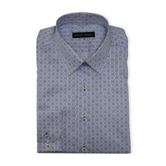 Blue Floral Casual Shirt For Men
