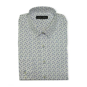 Ridolfi White Floral Casual Shirt For Men