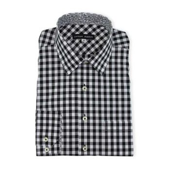 Ridolfi Black Checked Casual Shirt For Men