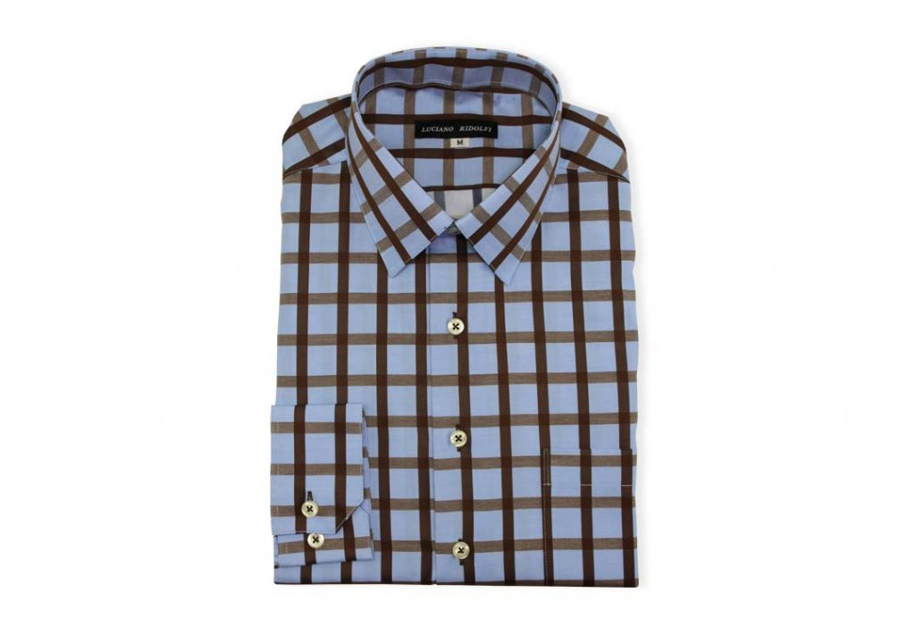 Ridolfi Blue Checked Casual Shirt For Men