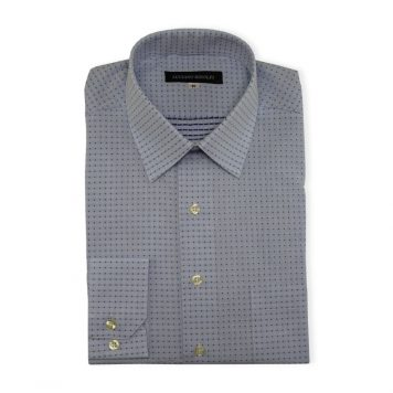 Ridolfi Blue Dotted Casual Shirt For Men