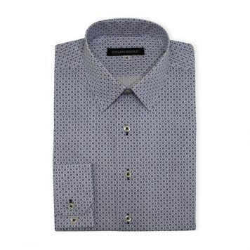 Ridolfi Blue Geometric Casual Shirt For Men