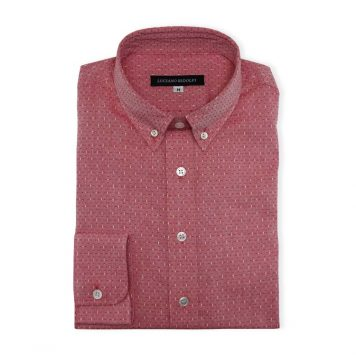 Ridolfi Red Geometric Casual Shirt For Men