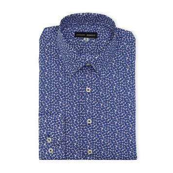Ridolfi Blue Floral Casual Shirt For Men