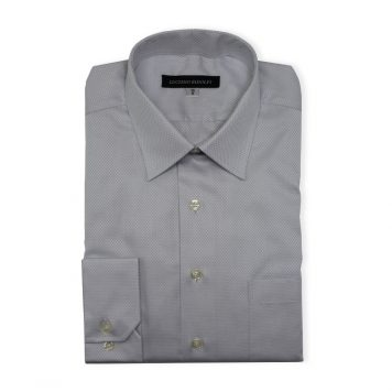 Ridolfi Grey Checked Dress Shirt For Men