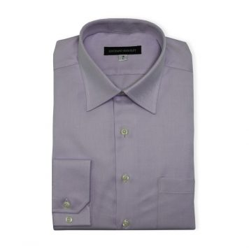 Ridolfi Lavender Striped Dress Shirt For Men