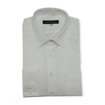 Ridolfi White Checked Dress Shirt For Men