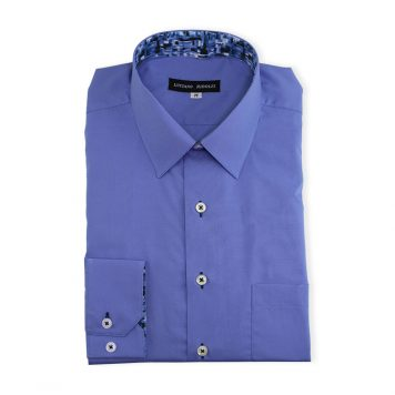 Ridolfi Plain Blue Casual Shirt For Men