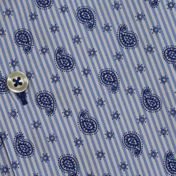 Ridolfi Blue Paisley Casual Shirt For Men