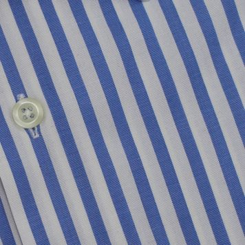Ridolfi Blue Striped Engineered Shirt For Men