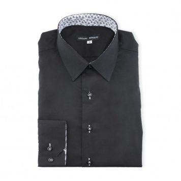 Ridolfi Plain Black Casual Shirt For Men