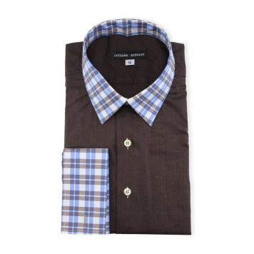 Ridolfi Plain Brown Engineered Shirt For Men