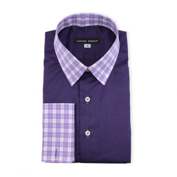 Ridolfi Plain Purple Engineered Shirt For Men