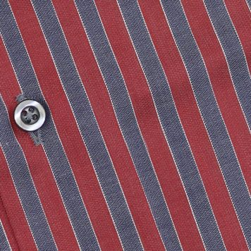 Ridolfi Red Striped Engineered Shirt For Men