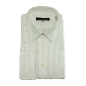 Ridolfi White Striped Engineered Shirt For Men