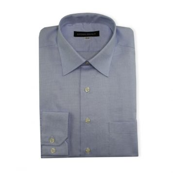 Ridolfi Blue Micro Checked Dress Shirt For Men