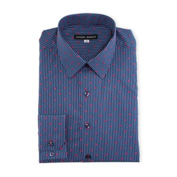 Ridolfi Blue Striped Casual Shirt For Men