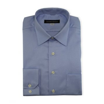 Ridolfi Blue Striped Dress Shirt For Men