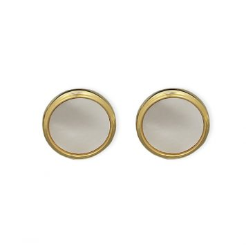 Weber Jewelry Gold Mother Of Pearl Cuff Links