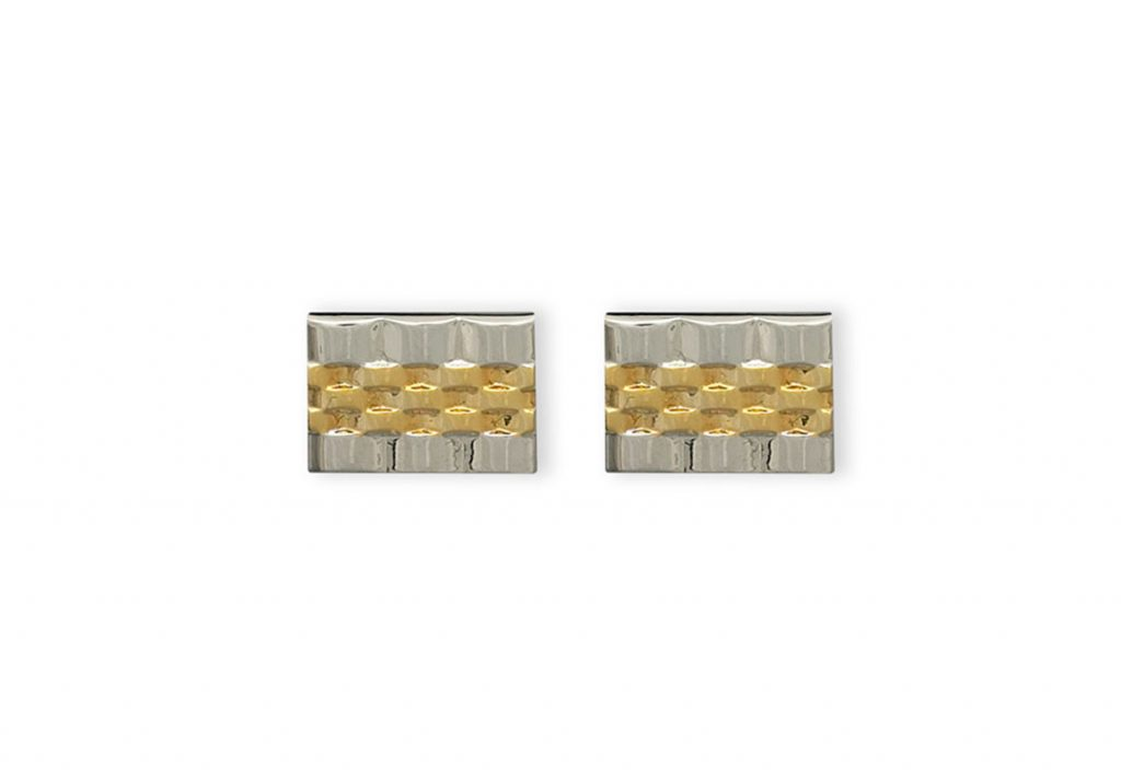 Weber Jewelry Gold Watch Band Cuff Links