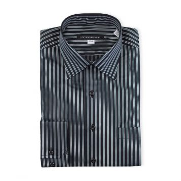 Ridolfi Green Striped Dress Shirt For Men