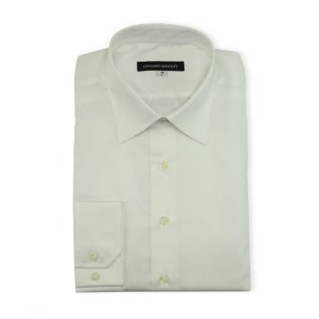 Ridolfi Plain White Dress Shirt For Men