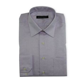 Ridolfi Purple Micro Checked Dress Shirt For Men