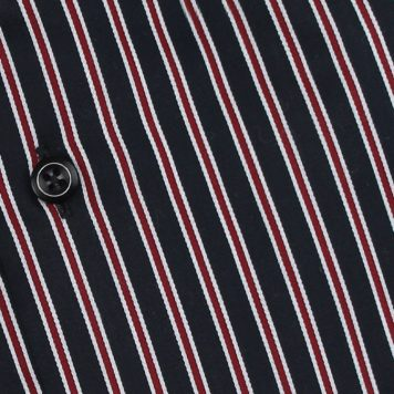 Ridolfi Red Striped Dress Shirt For Men