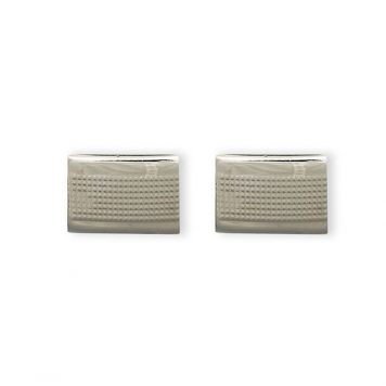 Weber Jewelry Silver Mesh Cuff Links