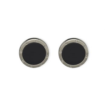 Weber Jewelry Silver Onyx Cuff Links