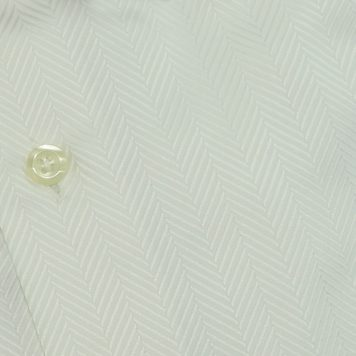 Ridolfi White Herringbone Dress Shirt For Men